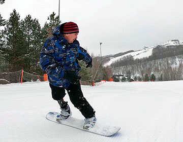 Ильнур Ханнанов на сноуборде